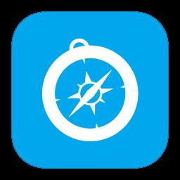 256x256px size png icon of MetroUI Browser Safari Alt