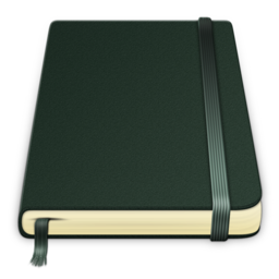 256x256px size png icon of moleskine Pure