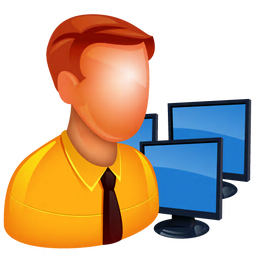256x256px size png icon of Admin