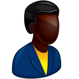 256x256px size png icon of African Boss