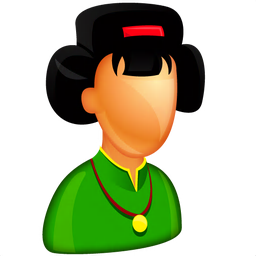 256x256px size png icon of Asian Female Boss