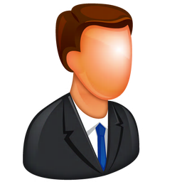 256x256px size png icon of Caucasian Boss