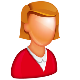 256x256px size png icon of Caucasian Female Boss