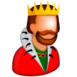 256x256px size png icon of King