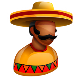 256x256px size png icon of Mexican Boss