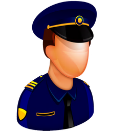256x256px size png icon of Police Officer