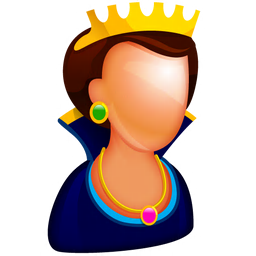 256x256px size png icon of Queen