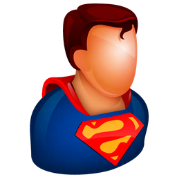256x256px size png icon of Superman