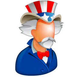 256x256px size png icon of Uncle Sam