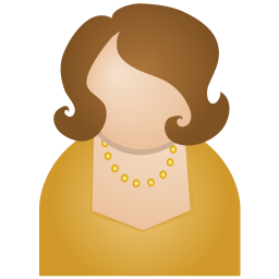 256x256px size png icon of brown woman