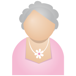 256x256px size png icon of grey woman