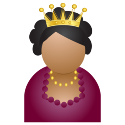 256x256px size png icon of miss crown