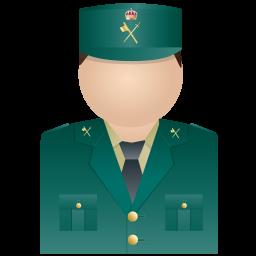 256x256px size png icon of Guardia Civil Uniform