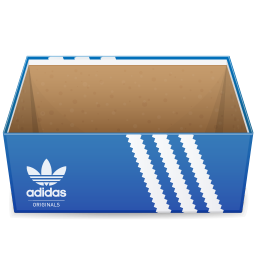 256x256px size png icon of Adidas Shoebox Open
