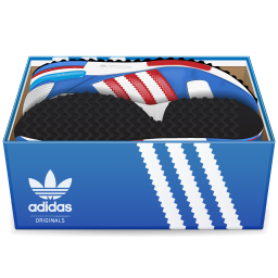 256x256px size png icon of Adidas Shoes In Box