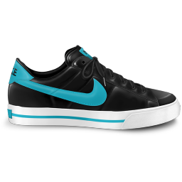 256x256px size png icon of nike classic shoe blue