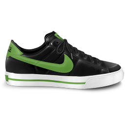 256x256px size png icon of nike classic shoe green