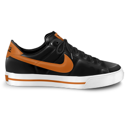 256x256px size png icon of nike classic shoe orange