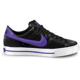 256x256px size png icon of nike classic shoe purple