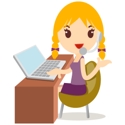 256x256px size png icon of callcenter girls blonde