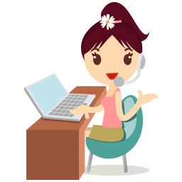 256x256px size png icon of callcenter girls flower