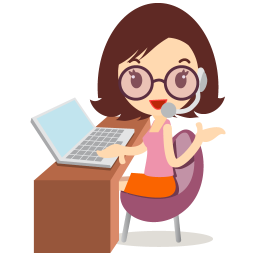256x256px size png icon of callcenter girls glasses