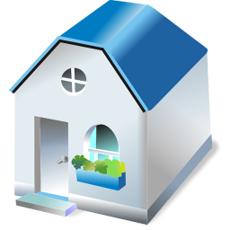 256x256px size png icon of One storied house
