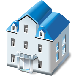 256x256px size png icon of Two storied house