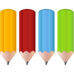 256x256px size png icon of Color pencils