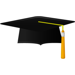 256x256px size png icon of Graduate academic cap