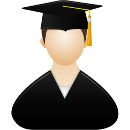 256x256px size png icon of Graduate male