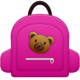 256x256px size png icon of Schoolbag girl