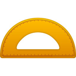 256x256px size png icon of Semicircle ruler
