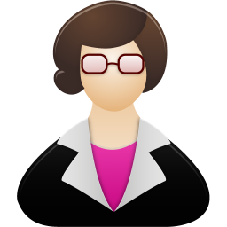 256x256px size png icon of Teacher female