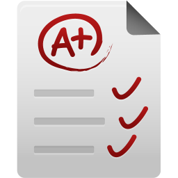 256x256px size png icon of Test paper
