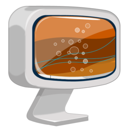 256x256px size png icon of Computer