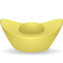256x256px size png icon of gold ingot