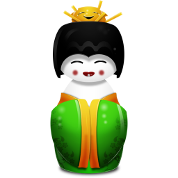 256x256px size png icon of Geisha China green