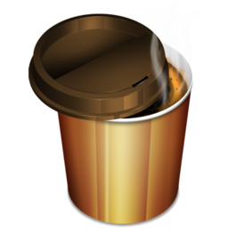 256x256px size png icon of Coffee 2 hot