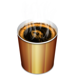 256x256px size png icon of Coffee hot
