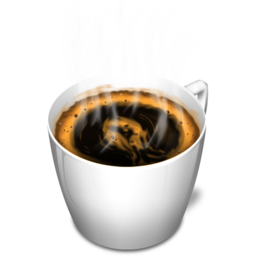 256x256px size png icon of Cup 3 coffee hot