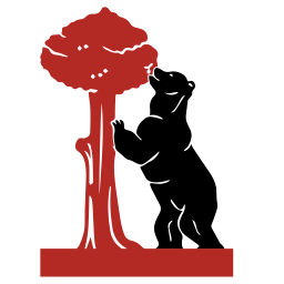 256x256px size png icon of madrid bear and tree