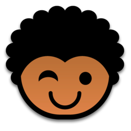 256x256px size png icon of wink 512x512