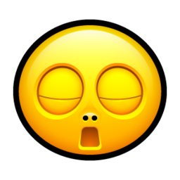 256x256px size png icon of Smiley bored