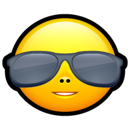 256x256px size png icon of Smiley cool