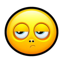 256x256px size png icon of Smiley disappointed