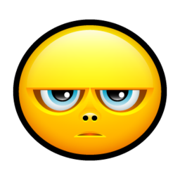 256x256px size png icon of Smiley grumpy
