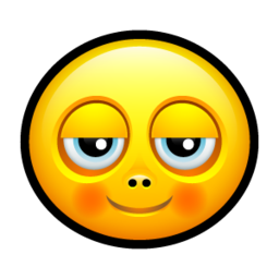 256x256px size png icon of Smiley pleased