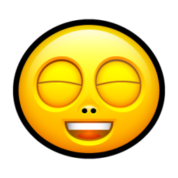 256x256px size png icon of Smiley rofl