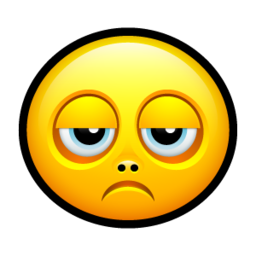 256x256px size png icon of Smiley sad